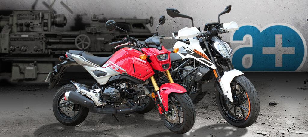 KTM Duke 125 und MSX 125